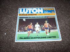 Luton Town v Oldham Athletic, 1977/78